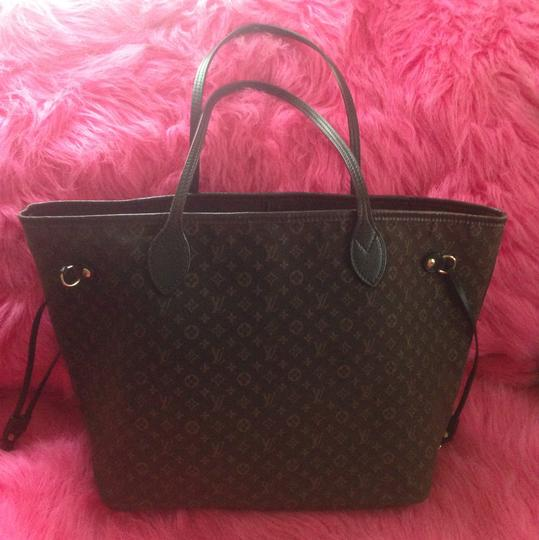 Louis Vuitton Neverfull Ebene Damier Idylle Tote in Fusian Image 1
