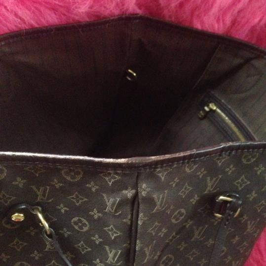 Louis Vuitton Neverfull Ebene Damier Idylle Tote in Fusian Image 11