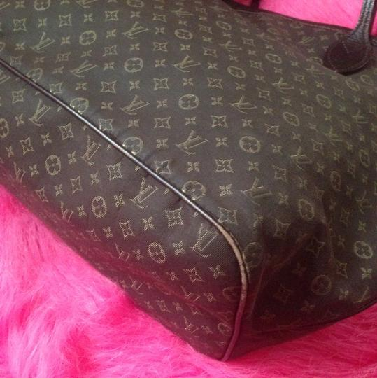 Louis Vuitton Neverfull Ebene Damier Idylle Tote in Fusian Image 5