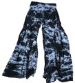 XCVI Wide Leg Pants tye dye black white