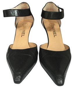 Chanel Ankle Strap Black Pumps