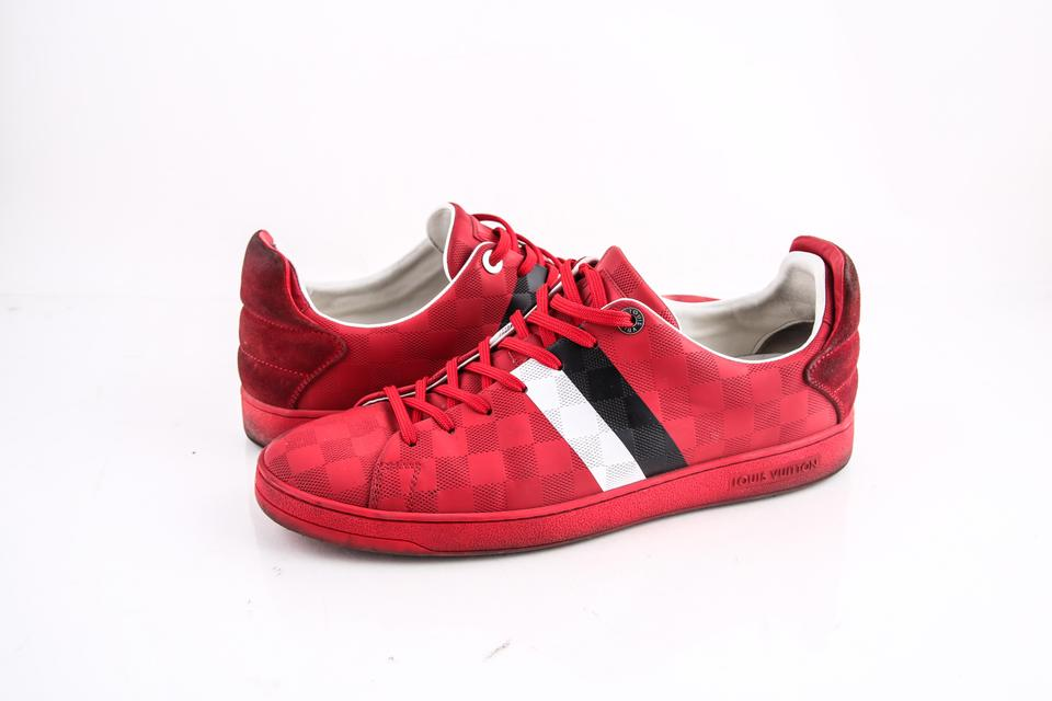 d4f764108d69 Louis Vuitton * Red Frontrow Sneakers Shoes Image 0 ...