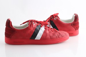 Louis Vuitton Red Frontrow Sneakers Shoes