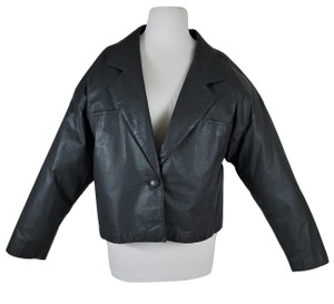 Dior Ships In 24 Hours 1980's Vintage Excellent Nr Mint Slightly Cropped Soft Lamb Leather Grey Jacket