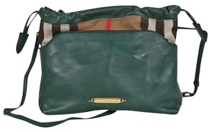 Burberry Leather Plaid Cross Body Bag
