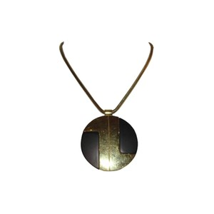 Lanvin Lanvin Black and Gold Pendant Necklace