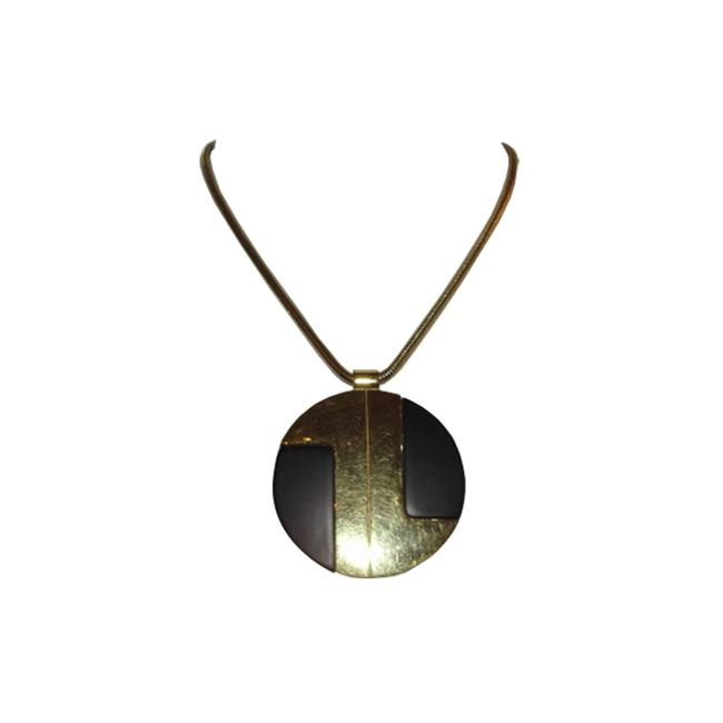 Item - Black/Gold And Pendant Necklace