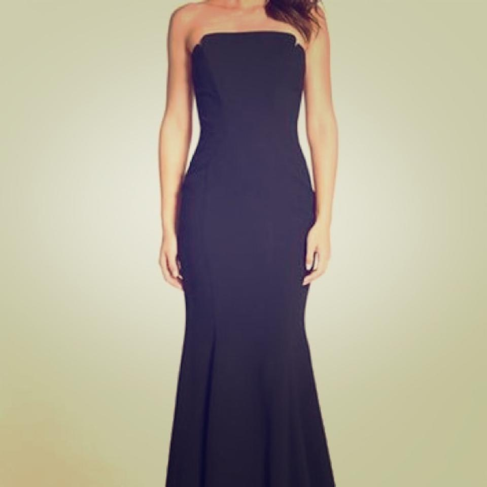 JILL JILL STUART Black Notched Strapless Gown Style Number