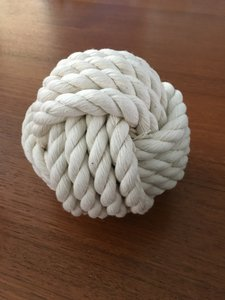 White Monkey Fist Knot Table Card Holders - 14 Centerpiece