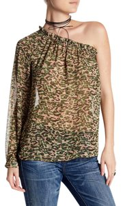 Ro & De Camo One Shoulder Designer Top Camouflage