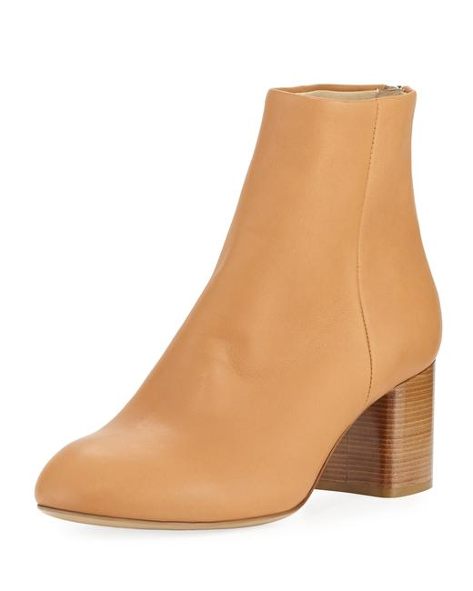 Item - Nude Birch New Drea Napa Leather Mid-heel Ankle Boots/Booties Size EU 37 (Approx. US 7) Regular (M, B)