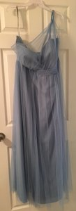Alfred Angelo Baby Blue One Sided Bridesmaid/Mob Dress Size 24 (Plus 2x)