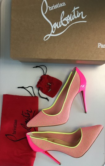 Christian Louboutin Pigalle Follies Heels Point Toe Pink Pumps Image 1
