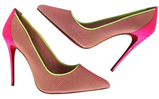 Christian Louboutin Pigalle Follies Heels Point Toe Pink Pumps Image 2