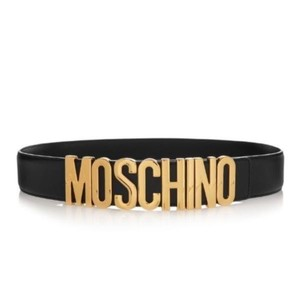 Moschino Moschino logo leather belt IT38