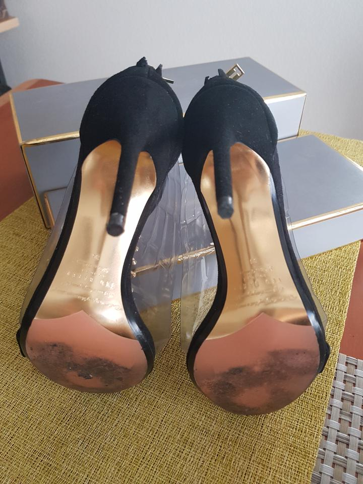 243d4c8f34c83c Ted Baker Black Nyadi T-strap Dress Suede Sandals Size EU 36 (Approx ...
