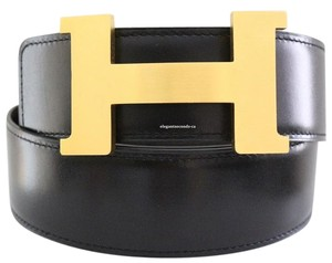 Herms AUTH. Hermes 42MM/95CM Constance Reversible Gold Matte Buckle