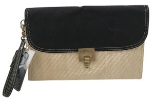Jason Wu for Target Straw Canvas Cream and black Clutch