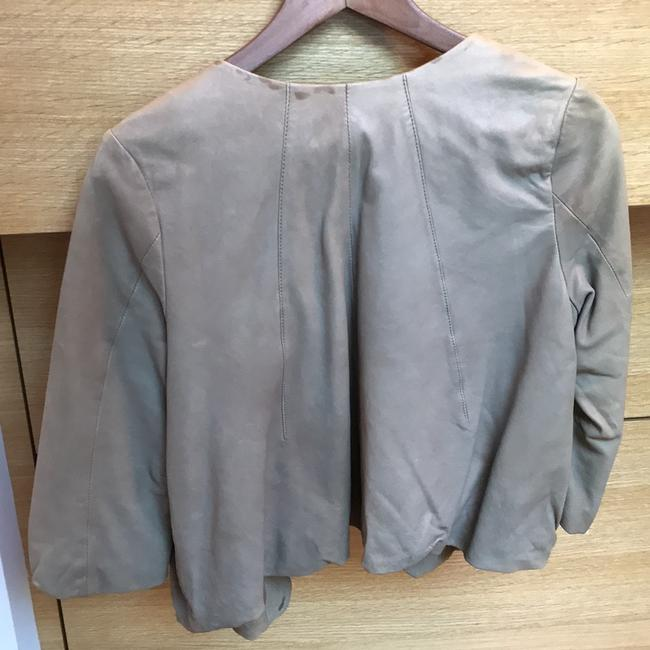 Joie Taupe Leather Jacket Image 1
