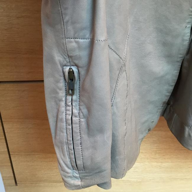 Joie Taupe Leather Jacket Image 2