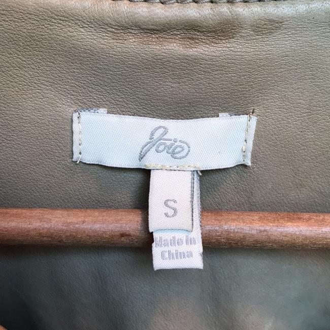 Joie Taupe Leather Jacket Image 4