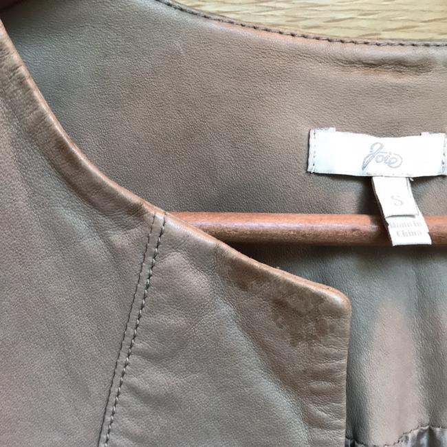 Joie Taupe Leather Jacket Image 6
