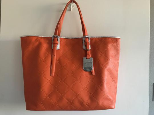 Longchamp Cuir Leather Tote in Orange