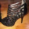 Steve Madden Gladiator Stiletto Black Platforms Image 1