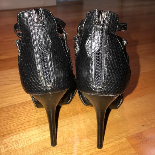 Steve Madden Gladiator Stiletto Black Platforms Image 4