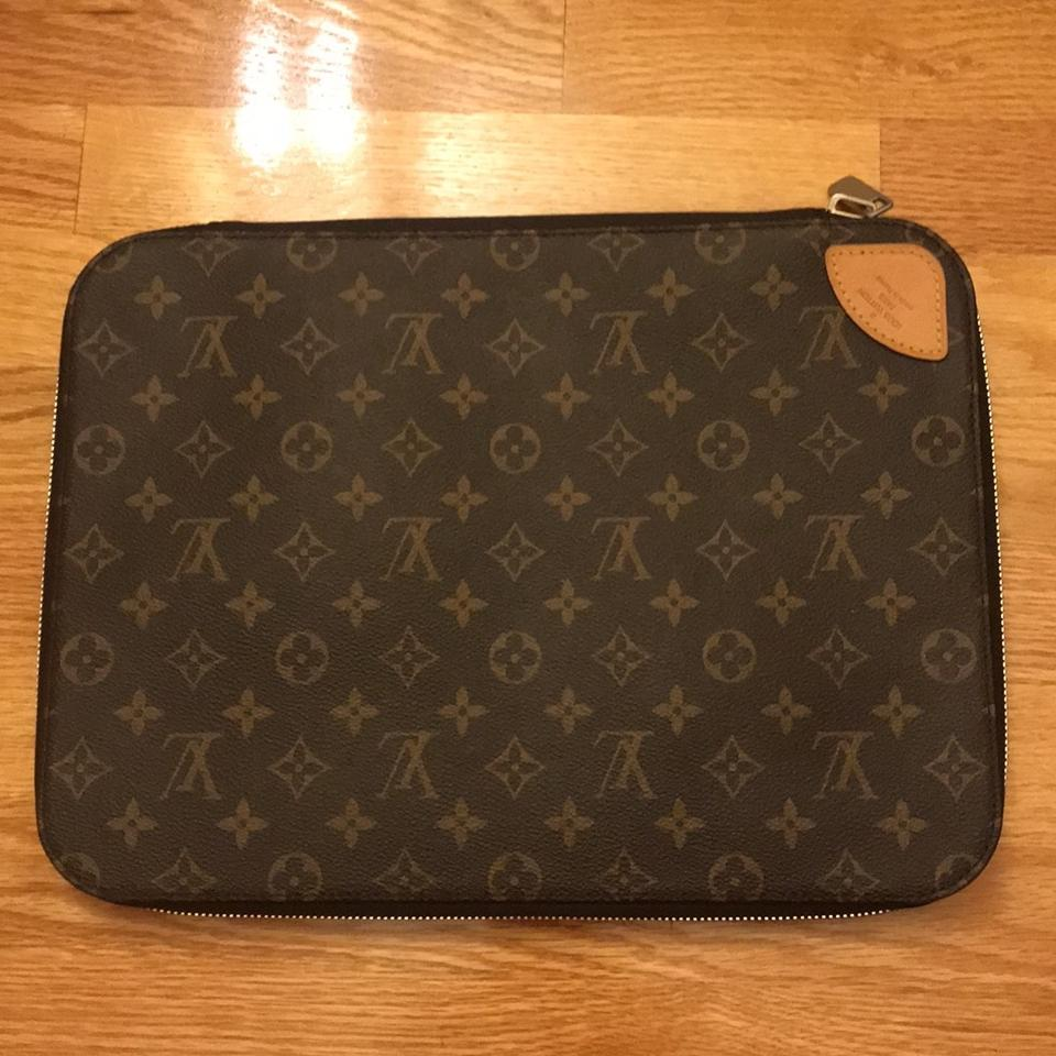 9c45a930f1 Louis Vuitton Horizon Sleeve Brown Leather Laptop Bag - Tradesy