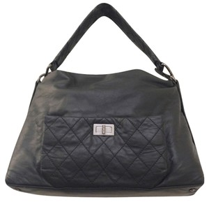 Chanel Hobo Leather 8 Knots Tote Shoulder Bag