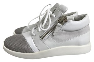 Giuseppe Zanotti Leather Zip Sneakers White Athletic
