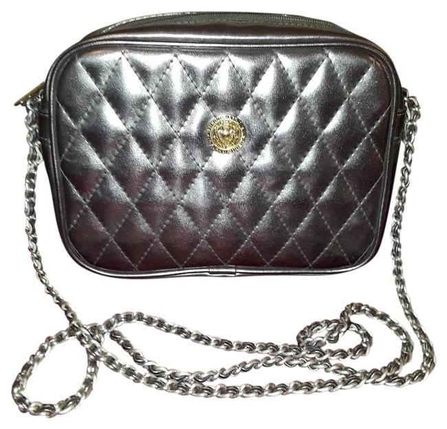 Item - Pierre Quilted Silver Leather Cross Body Bag
