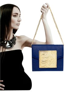Dareen Hakim Chain Strap Leather Lamb Leather Shoulder Bag