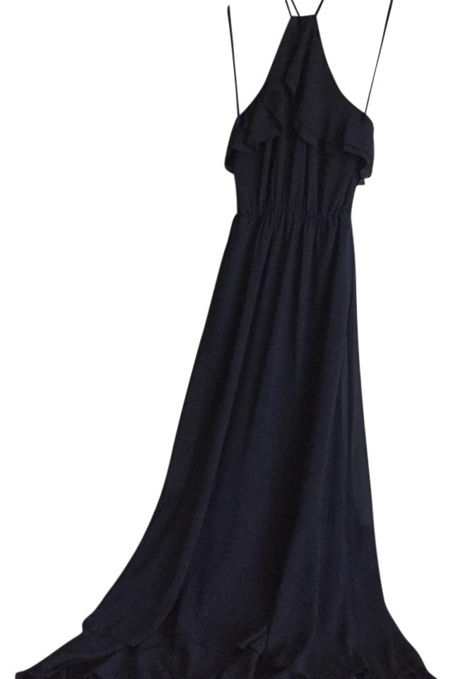 01363d8159e H M Navy Flowy Long Casual Maxi Dress Size 4 (S) - Tradesy
