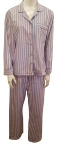 Gilligan & O'Malley Pink and baby blue striped pajamas