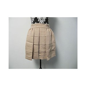 BCBGeneration Womens Bcbg Dark Buff Pinkbeige Tiered Mini Skirt Beiges
