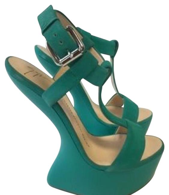 Item - Green Limited Edition Wedges Platforms Size EU 40 (Approx. US 10) Regular (M, B)