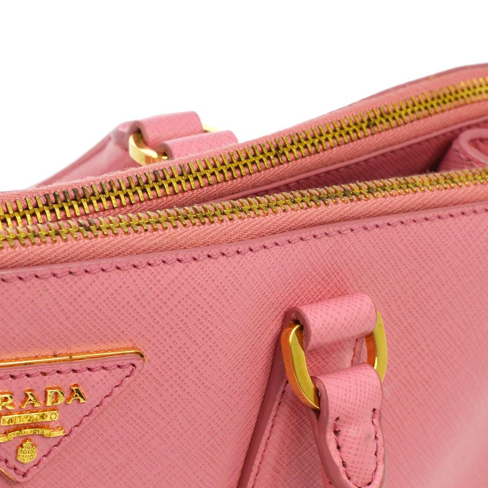 024f4fda5d16 Prada Galleria Double Saffiano Large Zip Tote Pink Leather Shoulder Bag -  Tradesy