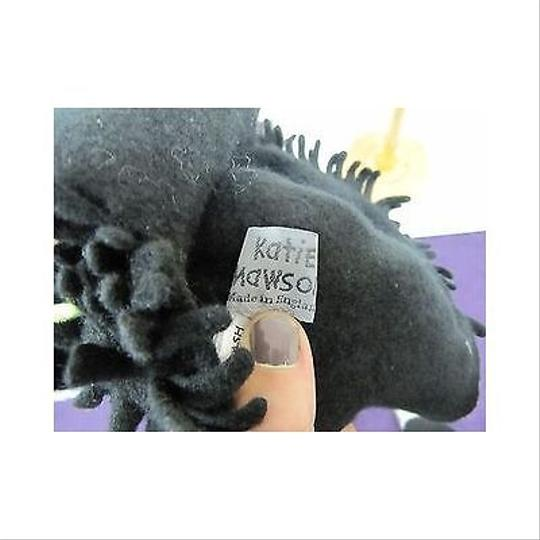 Other Womens Katie Mawson Black Fringe Beanie With Ear Flaps Winter Hat