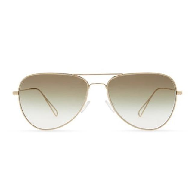 Item - Olive and Light Gold Matt Aviator Gold/ Sunglasses