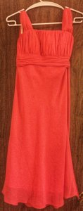 David's Bridal Coral Reef Polyester Modern Dress Size 6 (S)