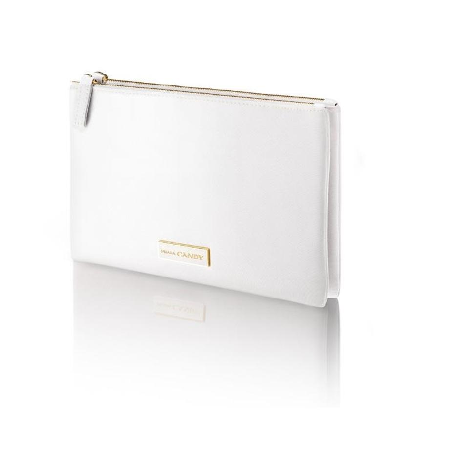 0e36151d500d Prada PRADA CANDY KISS Makeup Pouch Cosmetic Bag set white double clutch  Image 0 ...