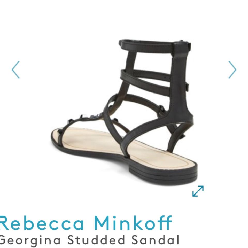 a0cd55e07a69 Rebecca Minkoff Black Georgina Studded Sandals Size US 9.5 Regular ...