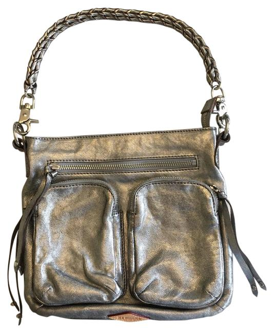 Item - Sophie Silver Leather Cross Body Bag