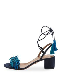 Aquazzura Slingback Sling Stiletto Wild Thign Blue Sandals