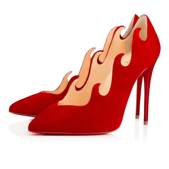 Preload https://img-static.tradesy.com/item/22304514/christian-louboutin-red-suede-olavague-100mm-flame-wave-point-toe-sz-euro-pumps-size-eu-36-approx-us-0-1-540-540.jpg