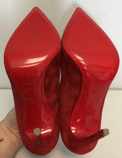 Christian Louboutin Heels Point Toe Olavague Flame Red Pumps Image 10