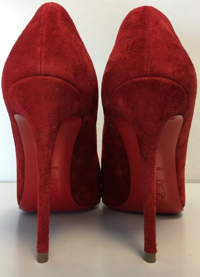 Christian Louboutin Heels Point Toe Olavague Flame Red Pumps Image 4