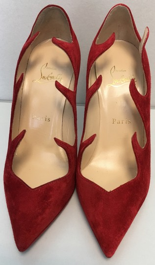 Christian Louboutin Heels Point Toe Olavague Flame Red Pumps Image 5